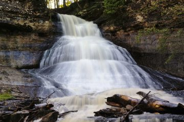 Chapel Falls along the Section Creek in the Pictured Rocks National Lakeshore.
