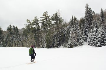 Snowshoeing in the McCormick Wilderness across White Deer Lake